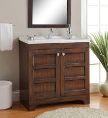 Contemporary Bath Vanity Cabinets Adelina 32 Inch Contemporary Bathroom Vanity Vitreous China Top