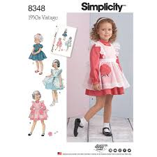 Toddler Dress Patterns Amazing Toddlers Dress And Pinafore Simplicity Sewing Pattern 48 Sew