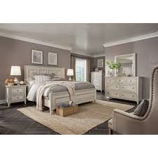 White Casual Traditional 6 Piece Cal-King Bedroom Set - Raelynn   RC ...