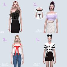 Creator By : Sims4 Marigold เสื้อ 4 แบบ... - TheSims UpToMe Mod/CC