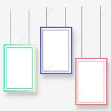simple color border frame design