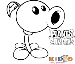 Kids can freely download any of these coloring book pages and start coloring them. Plant Vs Zombie Coloring In Page Printable Kids Coloring Pages
