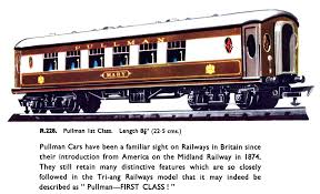 Named Pullman Cars (railway carriages), listing