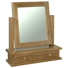Glendale Solid Pine Dressing Table Mirror with Drawer