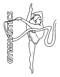 Small Picture Gymnastics coloring pages rhythmic gymnastics ribbon ColoringStar
