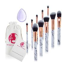 make up brushes start makers professional 10 pieces unique style marble makeup brushes set cosmetic foundation