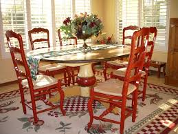 french country dining room painted furniture. French Country Dining Room...red Chairs And Look At The Table! Room Painted Furniture