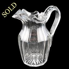 antique 19th century cut crystal water jug