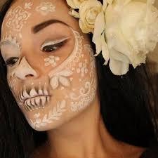 sugar skull wedding mexican skull makeup 1