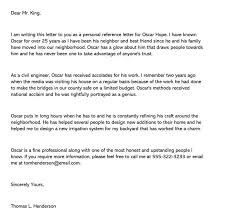 personal remendation letter for