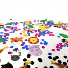 Confettis de tables pour anniversaire thème animaux