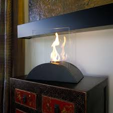 tabletop decorative bio ethanol fireplace in black