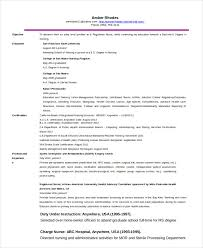 Advanced Practice Nurse Sample Resume Inspiration 44 Nurse Resume Templates PDF DOC Free Premium Templates