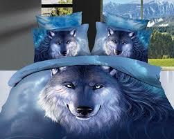 com mbm tm unique 3d oil painting bedding sets wolf print bedding set queen size