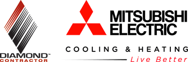 mitsubishi electric cooling and heating logo. mitsubishi electric cooling and heating diamond contractor. mitsubishilogos logo c