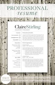Modern Resume Template The Claire Professional Resume Design