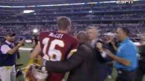 Reporter tries to interview Colt McCoy ...