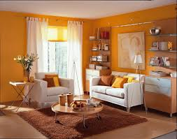 Orange Color For Living Room Perfect Color For Small Living Room With Green And Orange Color