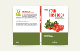 book cover design with spine front and back cover
