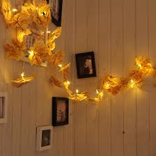 Fall Color String Lights Lamps Lighting Ceiling Fans 20leds Maple Leaves Fairy