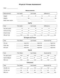 Physical Assessment Form Fascinating Physical Fitness Assessment Form Heartimpulsarco
