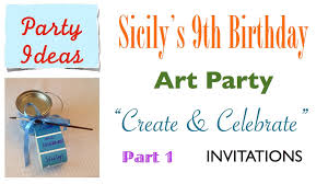 part invites how to make cute easy art party invites your guests will adore