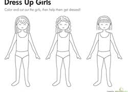 Small Picture Kindergarten Paper Dolls Coloring Pages Printables Educationcom