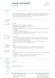 How To Prepare A Cv For Internship Legal Intern Resume Samples And Templates Visualcv