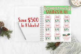 Christmas Savings Plan Chart Christmas Savings Plan Save 500 For The Holidays