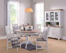 Painted Round Kitchen Table Hutchar Buxton Light Grey Painted Round Extending Dining Table