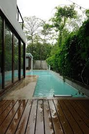 Swimming Pool Design: Backyard Narrow Pool With Hot Tube And Firepit - Narrow  Pools