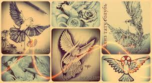 эскизы тату голубь рисунки для татуировки фото и значение