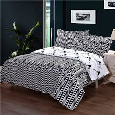 gggggo home zebra printed bedding set 3 4 pcs duvet cover set king queen full twin double single family size for bedding
