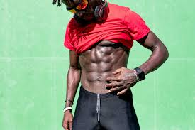 crop african american male athlete