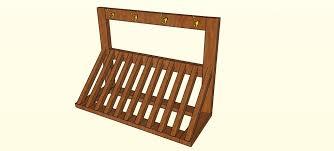 plans for wood bike rack