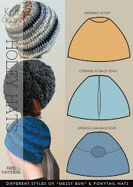 Free Crochet Hat Pattern With Ponytail Hole Extraordinary DiaryofaCreativeFanatic