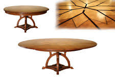 Expandable round dining table Counter Height Solid Walnut Arts And Crafts Expandable Round Dining Table Qbastagingclub Expandable Round Dining Table Ebay