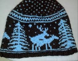 Fo Fornicating Deer Hat One Of My First Stranded Knitting
