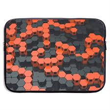 Wenn sie im sortiment von poco eine tolle günstige papiertapete entdecken, die. Orange Und Schwarz Tapete Drucken Laptop Hulle Amazon De Elektronik