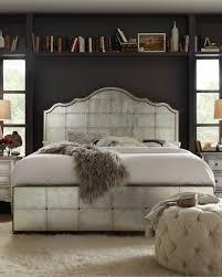 visage eglomise mirrored panel bed king