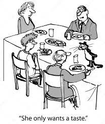 Eten Aan Tafel Cartoon