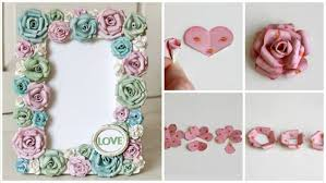 Paper Flower Frame How To Make Frame With Paper Flowers Simple Craft Ideas