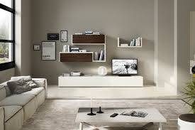 Modern Living Room Furnitures Wooden Wall Systems And Bookcases Napol Furniture