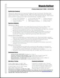 Administrative Resume Templates Cool Clerical Administrative Resume Template For Examples Assistant