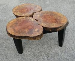 gorgeous tree stump coffee tables collection dazzling three in one tree stump coffee table design tree