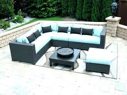 gray wicker patio furniture l shaped beautiful ideas outdoor chairs picture side table rattan