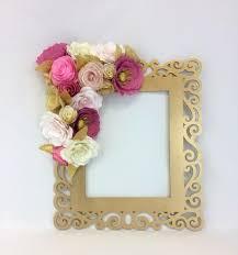 fl frame photo prop 3d flower wall art paper flower wall decor gold c flower frame wedding photo prop party photo frame 58 00 usd