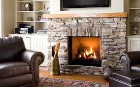 Design Ideas Delightful Decoration Stone Gas Fireplace Modern
