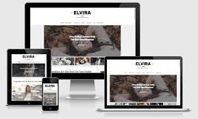 Free Responsive Website Templates Beauteous Elvira Responsive Beauty Blogger Template Way Templates Best