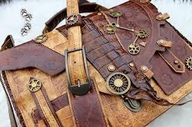 Leather steampunk handbag3 by 4lapki ...